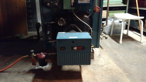 small resolution of i m thinking of adding a flexible fuel coupling to the burner to allow easy opening the furnace door i m also thinking of adding a spin on filter after the