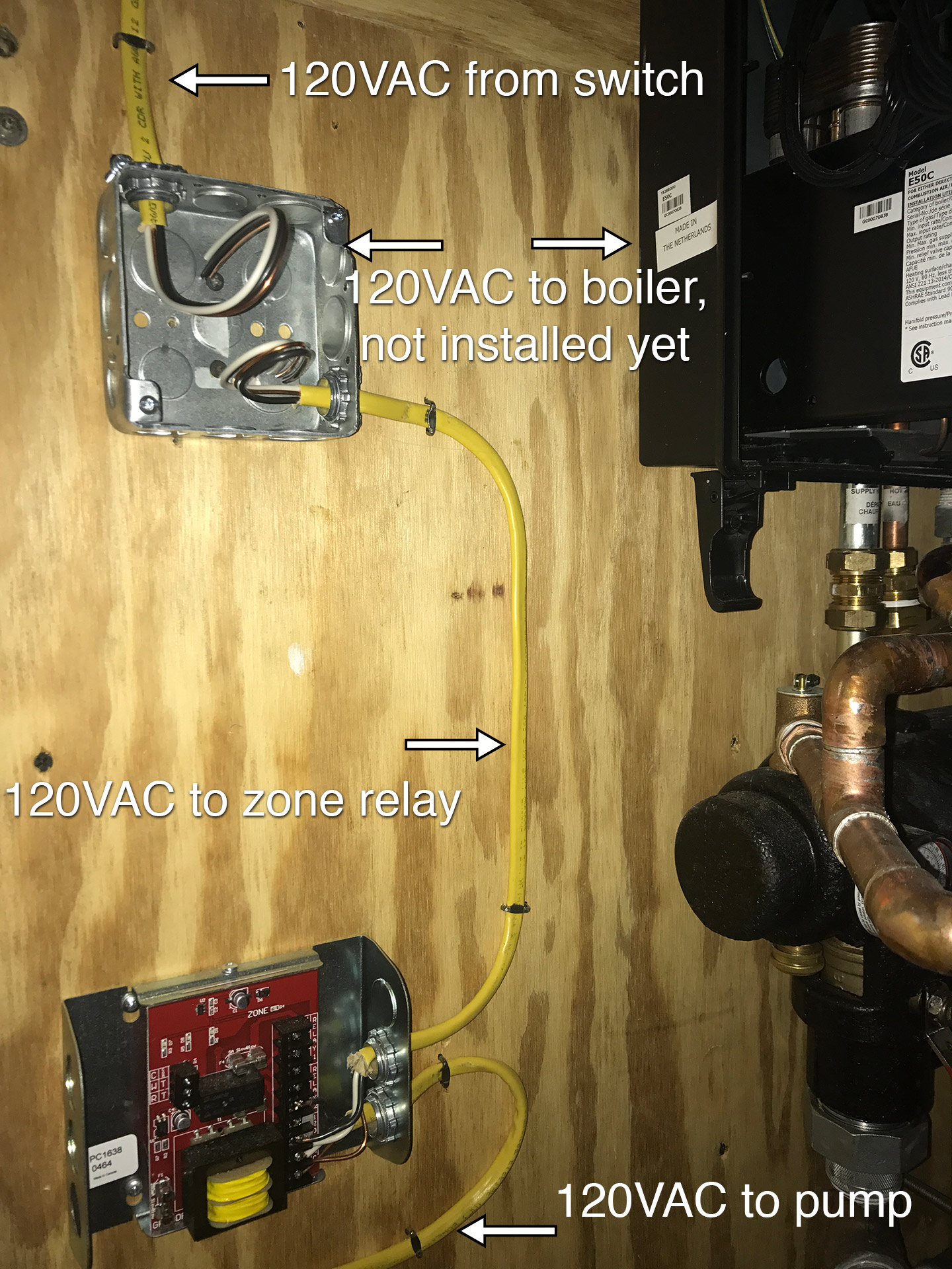 hight resolution of  the note for that green external pump connector warning about not connecting a pump directly because of a call for heat or dhw energizing that circuit