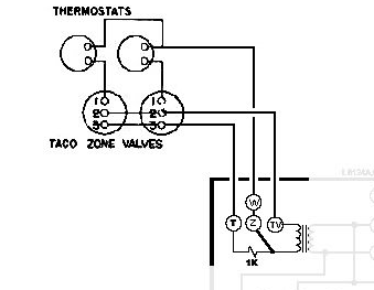 white rodgers 3 wire zone valve wiring diagram guitar diagrams pickups taco aquastat 10 artatec automobile de honeywell l8148e and 2x valves rh forum heatinghelp com relay