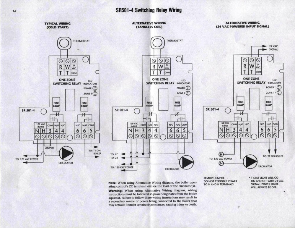 medium resolution of taco sr501 4 switching relay dilemma heating help the wall taco sr501 wiring relay