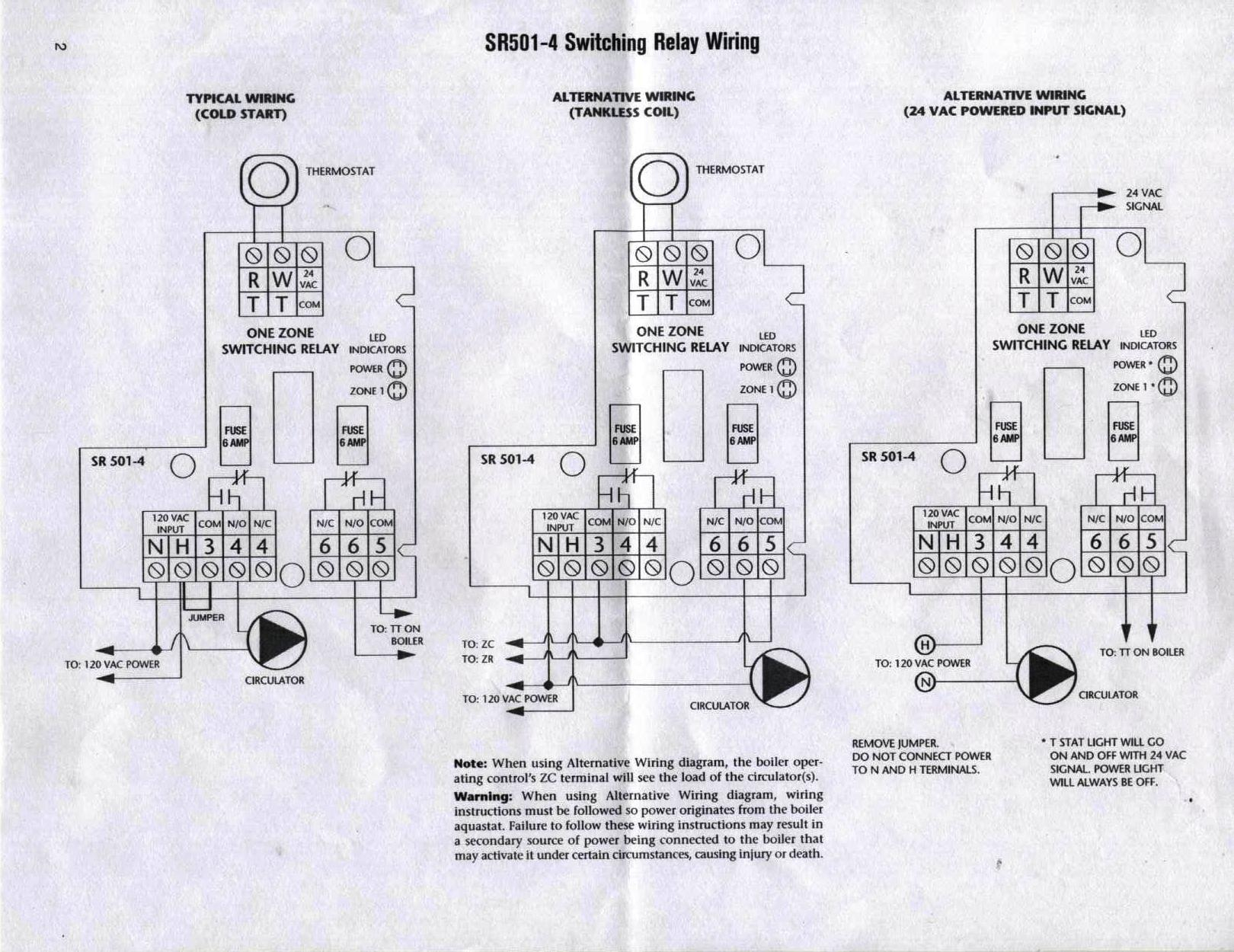 hight resolution of taco sr501 4 switching relay dilemma heating help the wall taco sr501 wiring relay