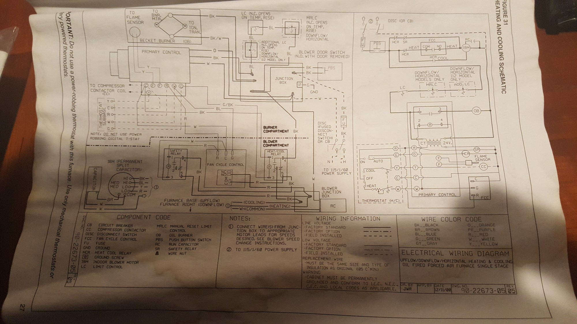 hight resolution of there are a few other options this is the schematic for heating and cooling but there is also heating and cooling continuous low speed blower schematic