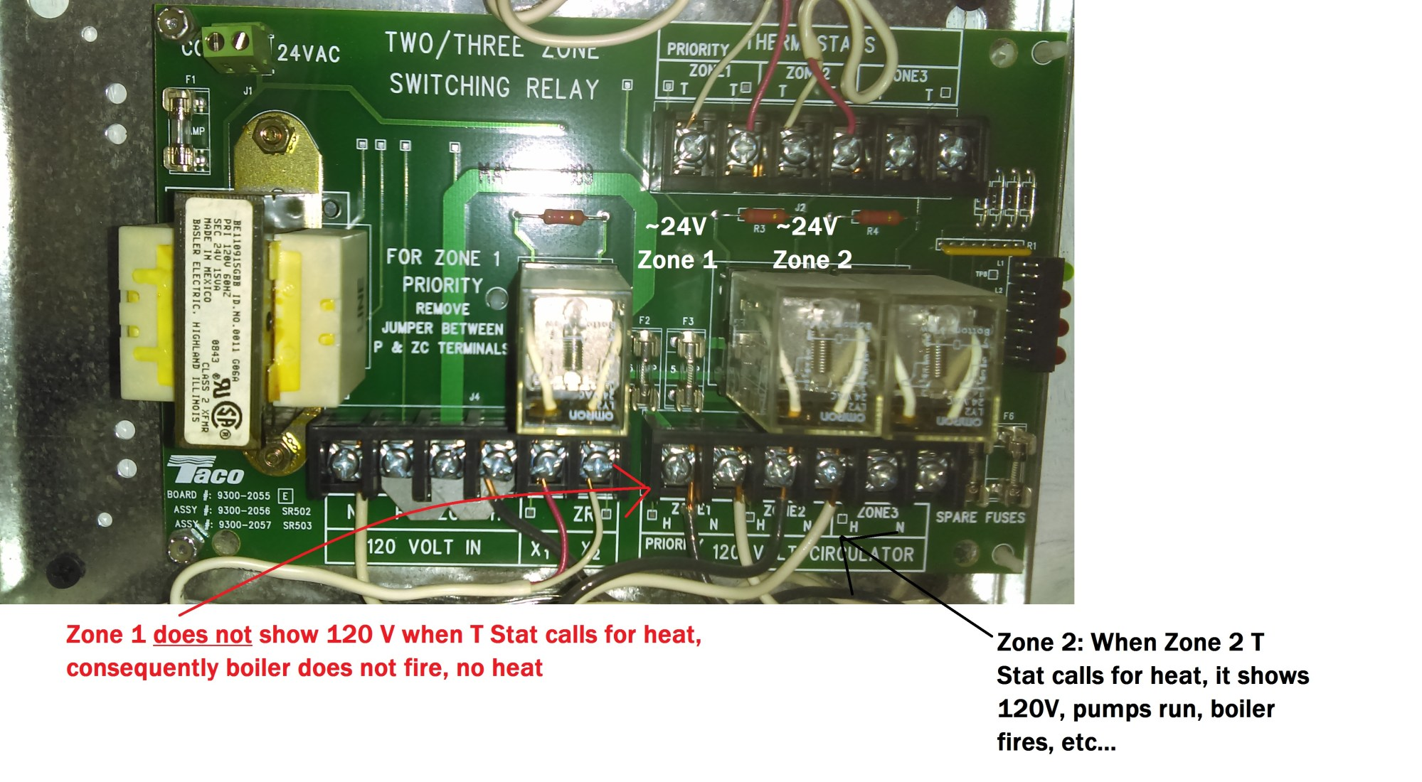hight resolution of taco zone switching relay wiring wiring diagram insidetaco zone control switch relay box zone 1 of