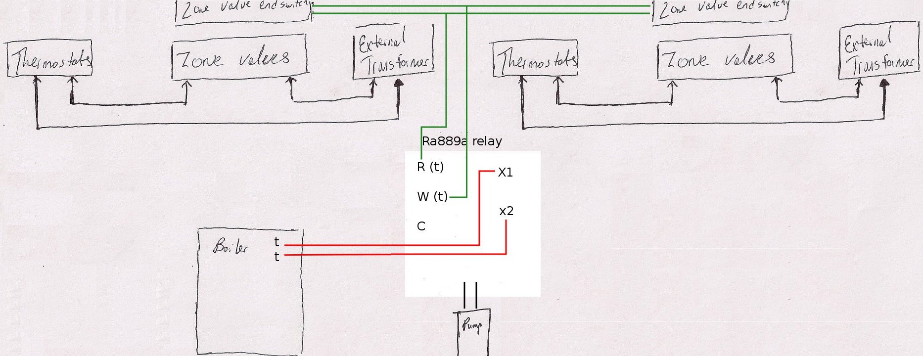 V8043e1012 To 2 Wire Thermostat Wiring Diagram 2 Wire