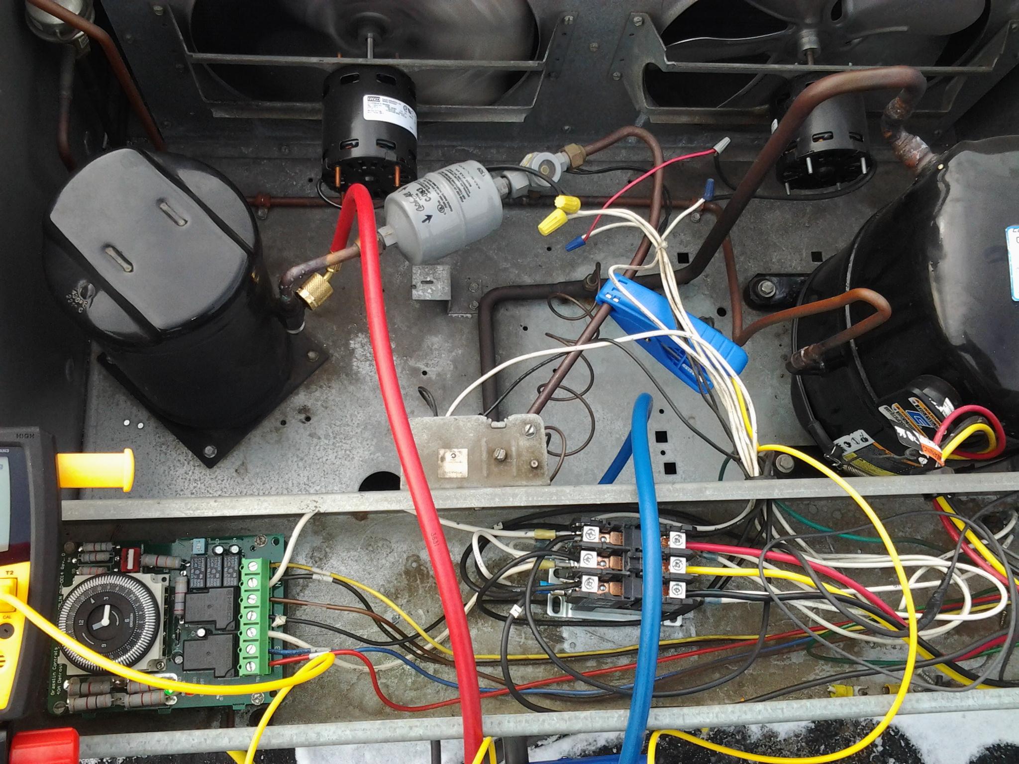 typical wiring diagram walk in cooler redarc freezer field refrigeration circuit