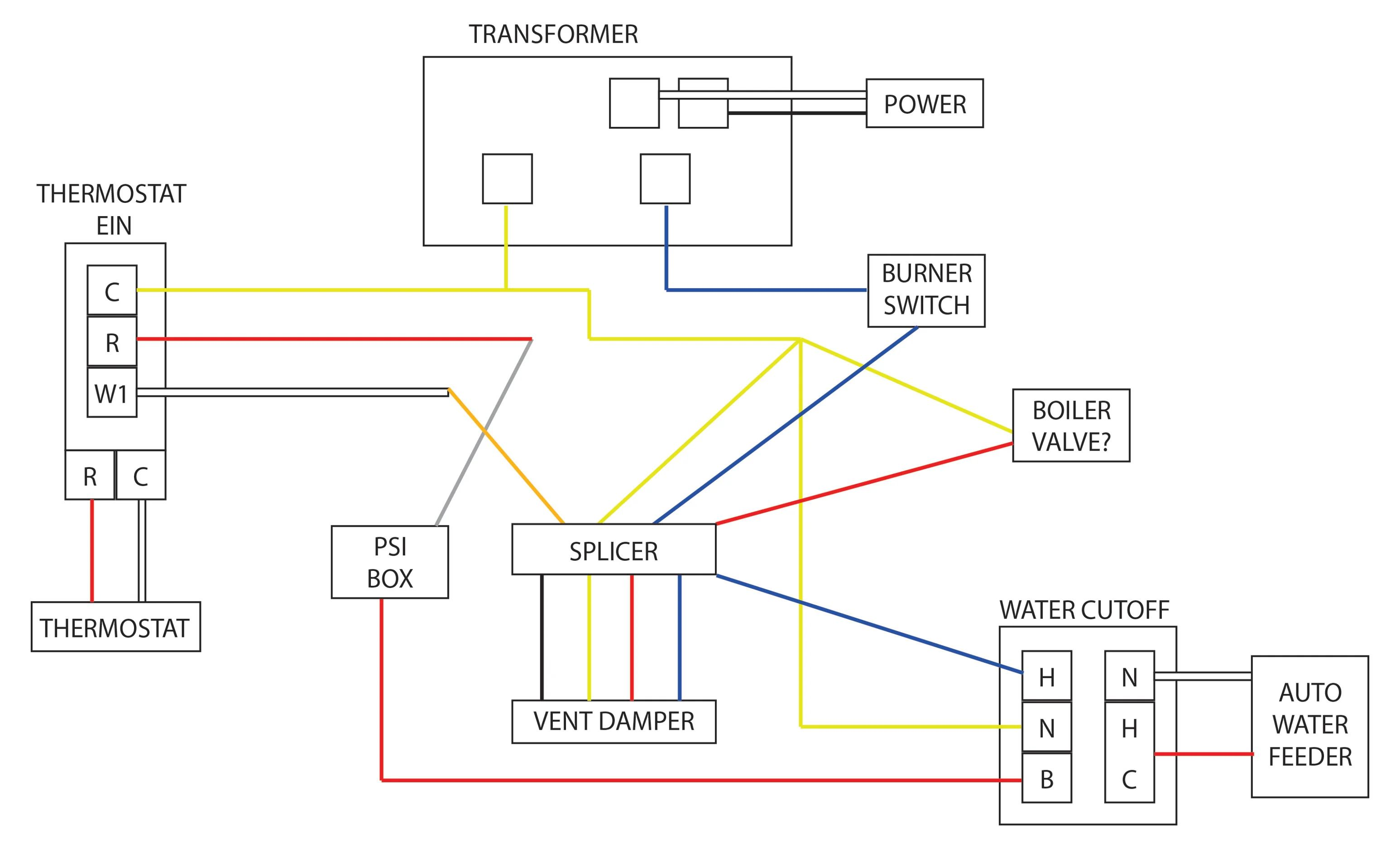 boiler transformer wiring diagram