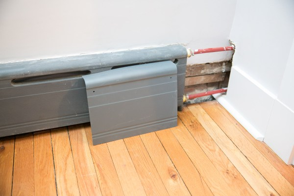 Improving Appearance Of Baseboard Heaters Heating Wall