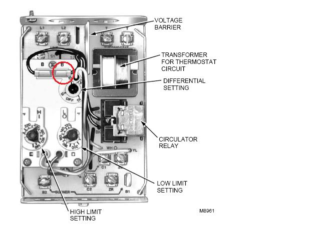 honeywell aquastat l8148e wiring diagram western 1000 salt spreader l8124a — heating help: the wall
