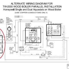 Honeywell Aquastat L8148e Wiring Diagram Electric Dryer Plug Using Single To Control Relay Turn Oil Boiler Burner On And Off — Heating Help: The Wall
