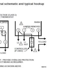 Heat Pump Thermostat Wiring Diagram Schematic Nutone Bathroom Fan Using Single Aquastat To Control Relay Turn Oil Boiler Burner On And Off — Heating Help: The Wall
