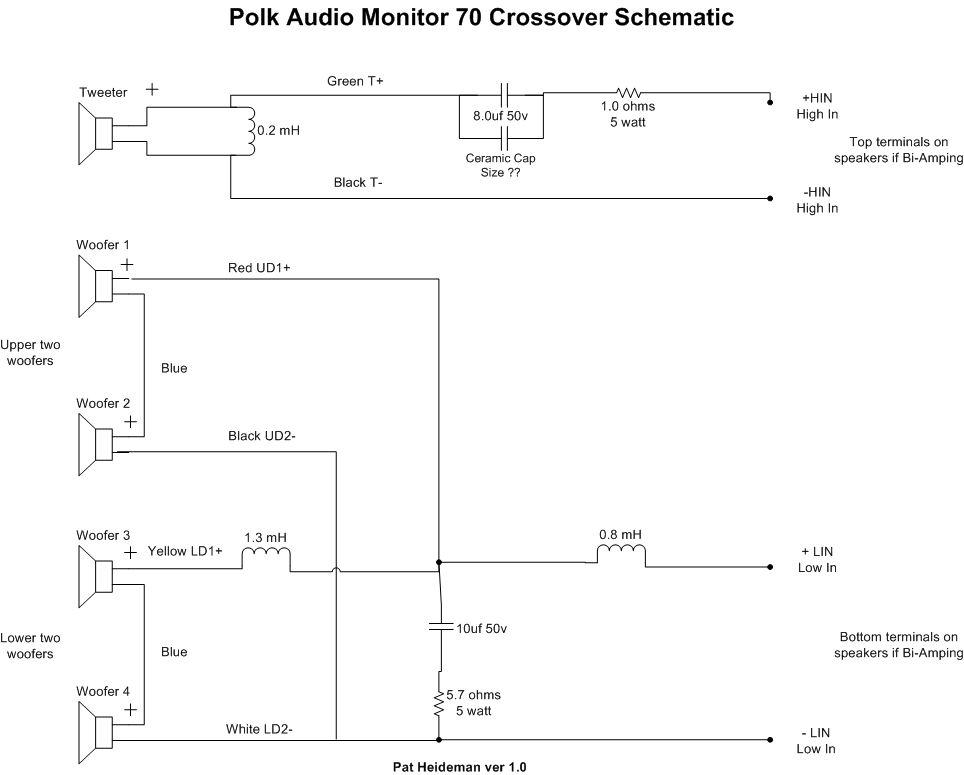 bi wiring speakers diagram l14 30p 2 bi-amping monitor 70 series ii - internal crossover question — polk audio