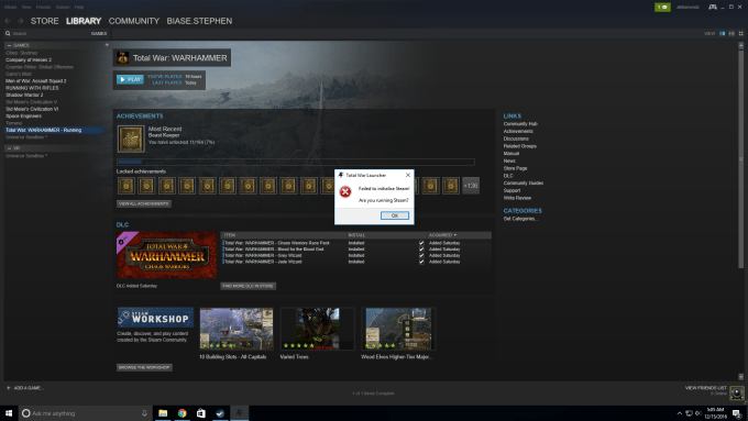 Steam Must Be Running To Play This Game Steamapi Init Failed