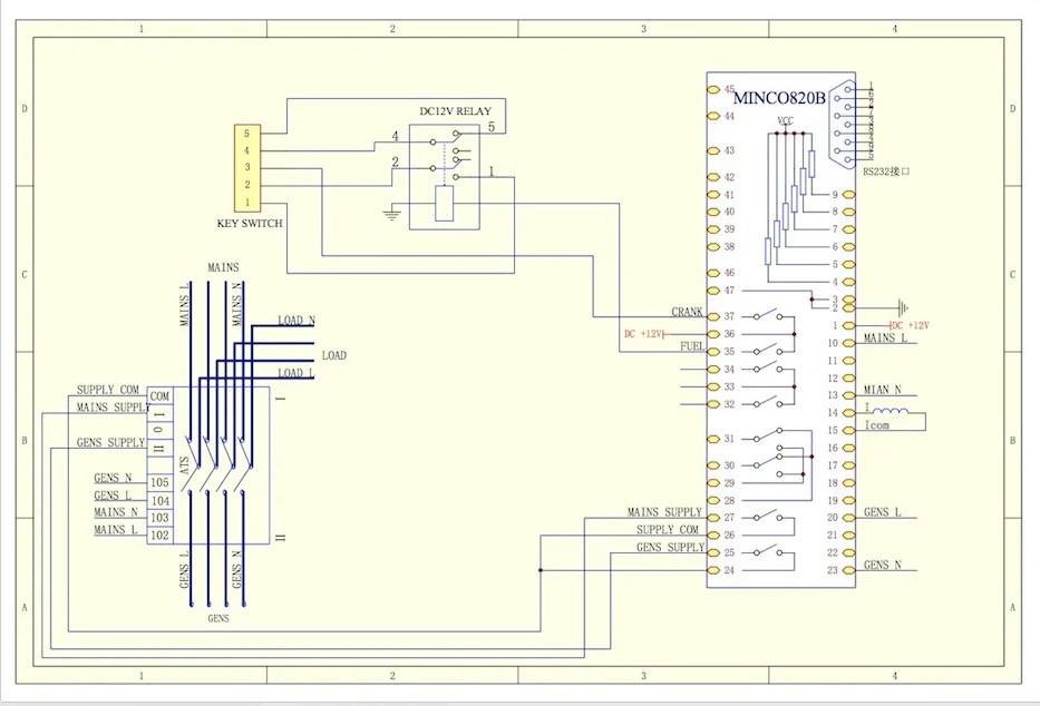 Ats Wiring Diagram Diesel Generator