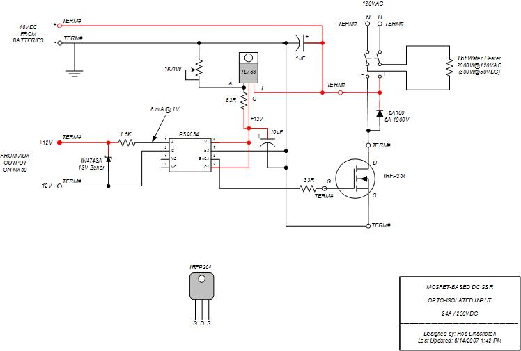 FM-60 Diversion Load switching using cheap MOSFET