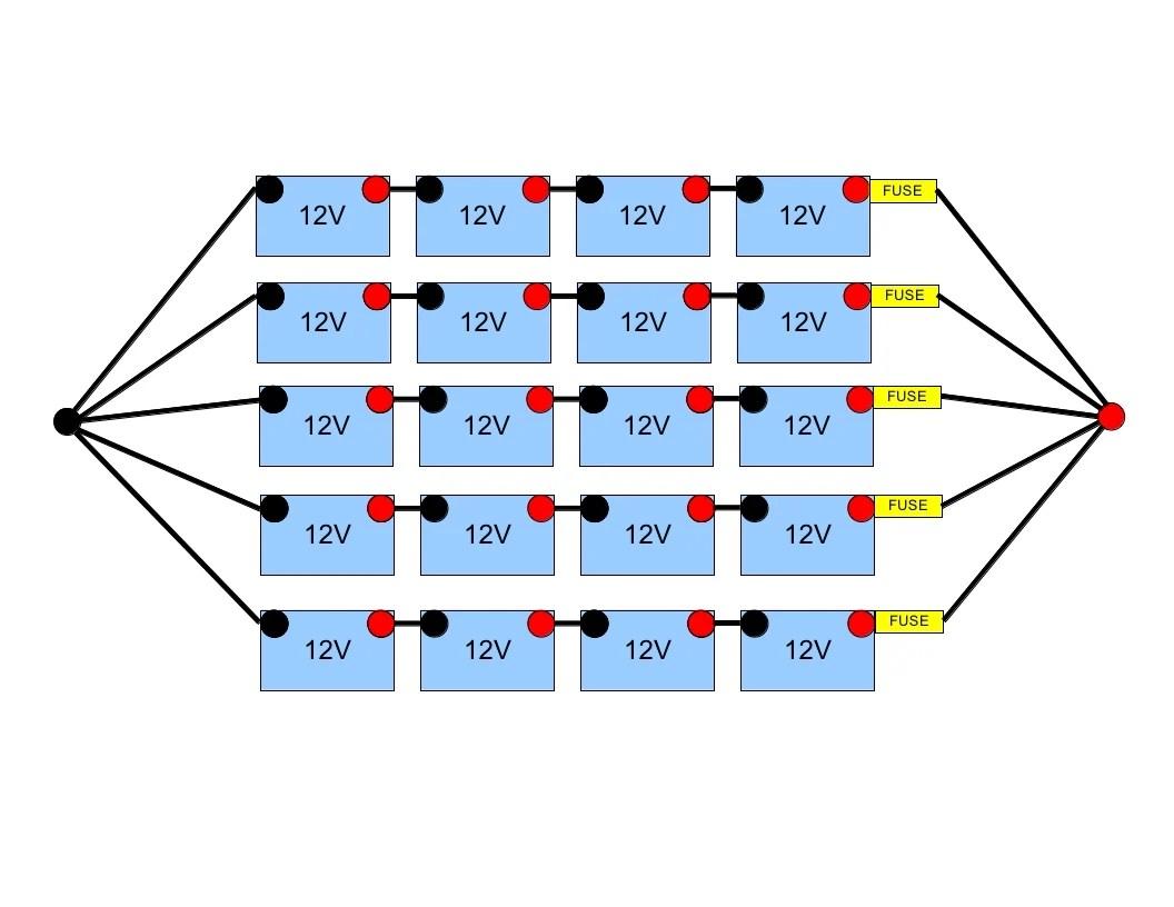 hight resolution of 48 volt battery bank wiring northernarizona windandsun 48 volt battery wiring diagram club car 1998 clubcar