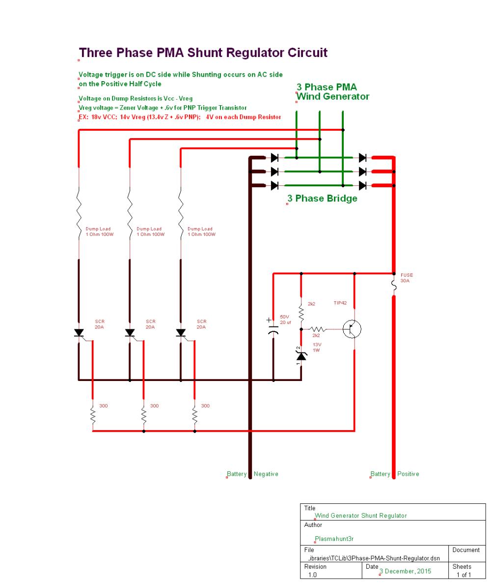 medium resolution of 3 phase shunt regulator northernarizona windandsun motorcycle rectifier wiring diagram shunt