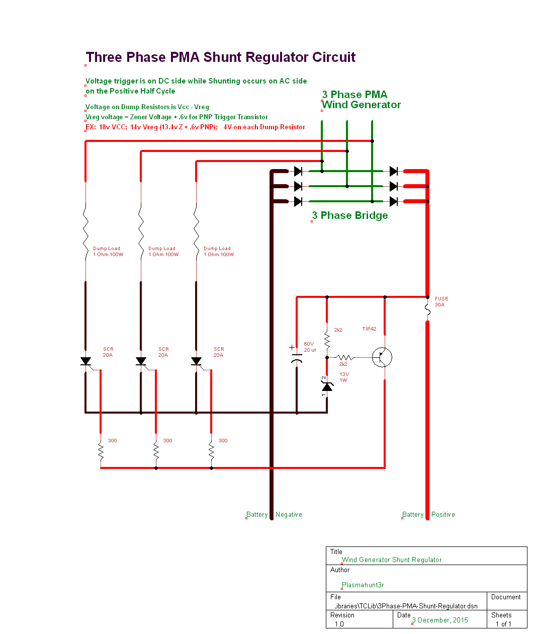 hight resolution of 3 phase shunt regulator northernarizona windandsun motorcycle rectifier wiring diagram shunt