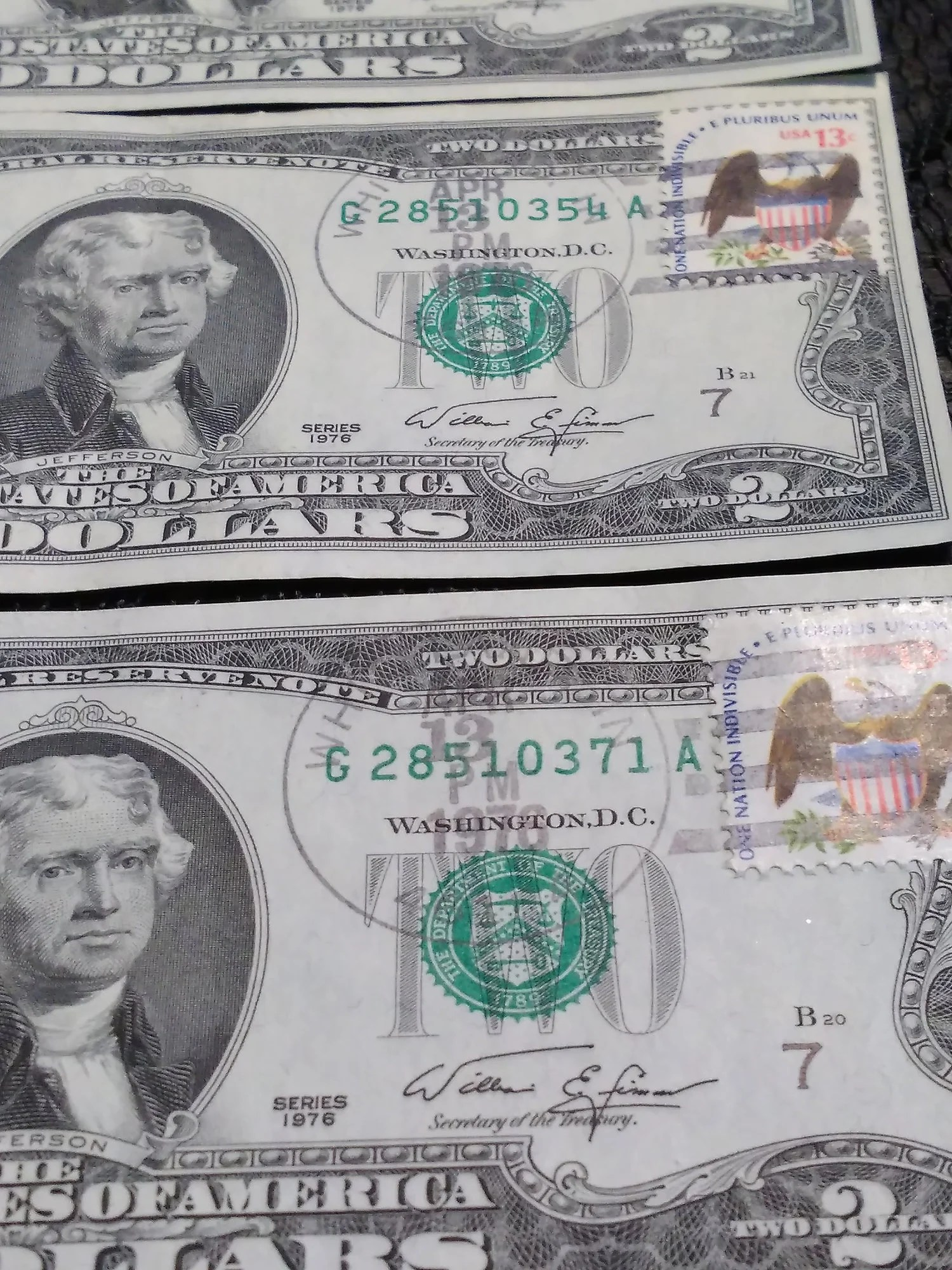 1976 2 Dollar Bills Worth : dollar, bills, worth, Dollar, Bills, Stamps, Condition, Opinions?, Don't, Really, Collectors, Universe