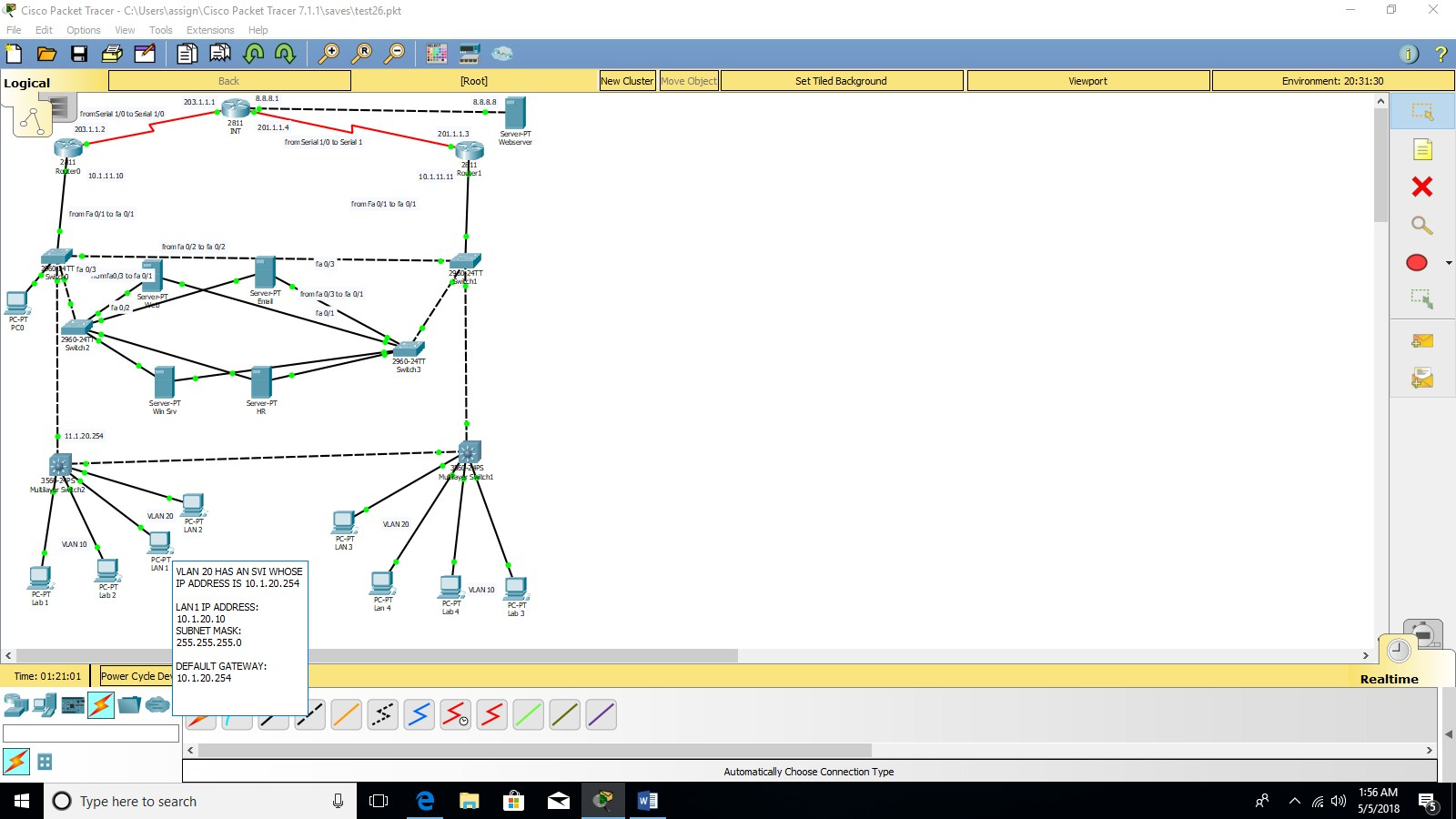 hight resolution of i am trying to ping from a pc lan 1 to a webserver having ip address 8 8 8 8 the pc lan 1 is a vlan 20 having ip address 10 1 20 10 subnet mask