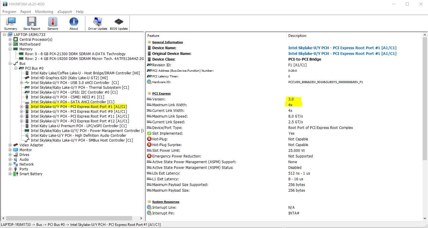 NVME M.2 SSD on Acer Aspire E5-475G-39SA. — Acer Community