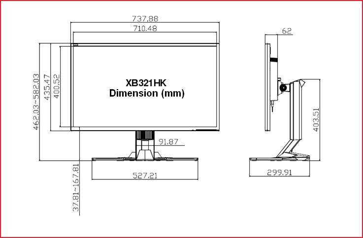 Acer XB321HK Measurements? — Acer Community