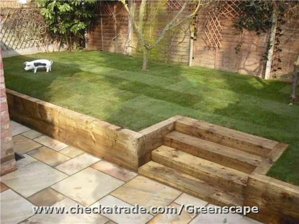 wooden sleeper steps bbc gardeners'