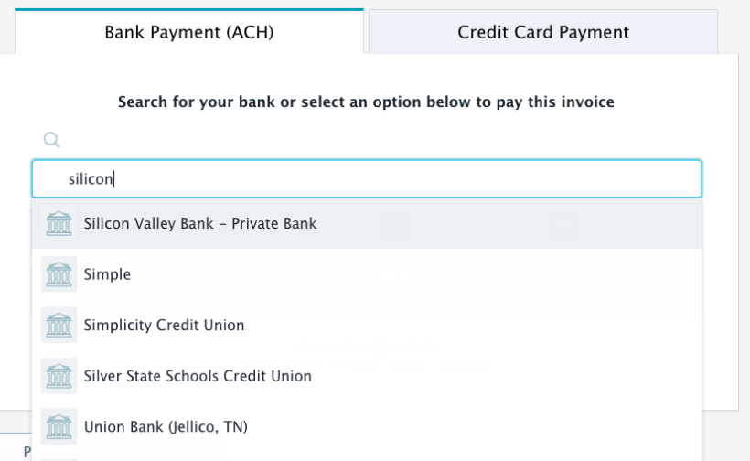 Silicon valley bank credit card phone number cardss trying to pay an invoice via ach with silicon valley bank wave colourmoves