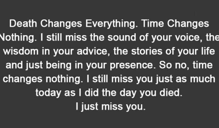 I just miss you.