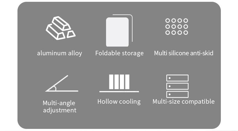 XT-XINTE Aluminum Alloy Laptop Stand Folding for MacBook