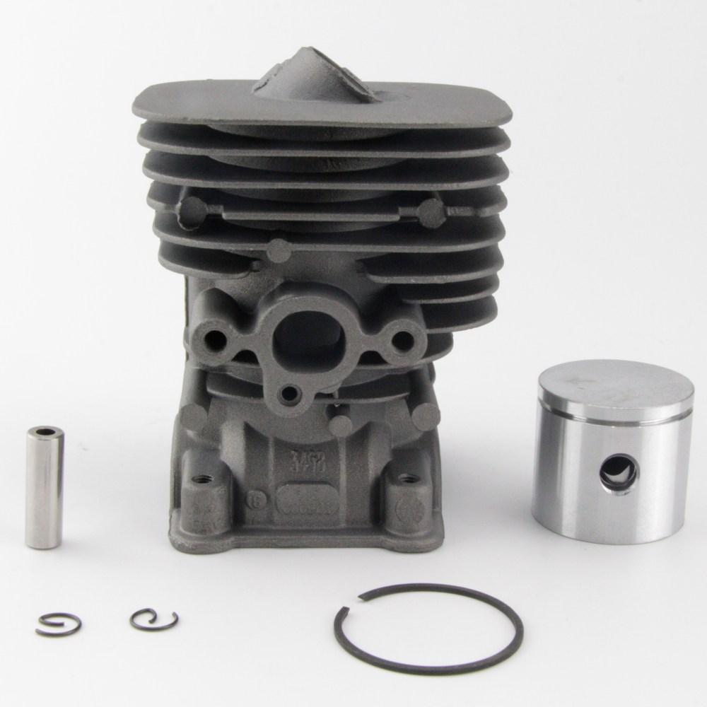 medium resolution of cylinder piston kit for husqvarna 124 125 128 c e l r ld rdx engines 545 00 10 01