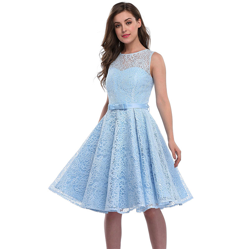 Lace Skater Cocktail Homecoming Formal Dress