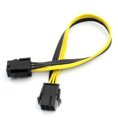 100pcs xt xinte 6p female to female extension cord adapter cable 25cm item no f23156 100 [ 1100 x 1100 Pixel ]