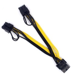 us 0 97 pci e pcie 8p female to 2 port dual 8pin 6 2p male gpu graphics video card power cable cord 18awg wire www xt xinte com [ 1000 x 1000 Pixel ]