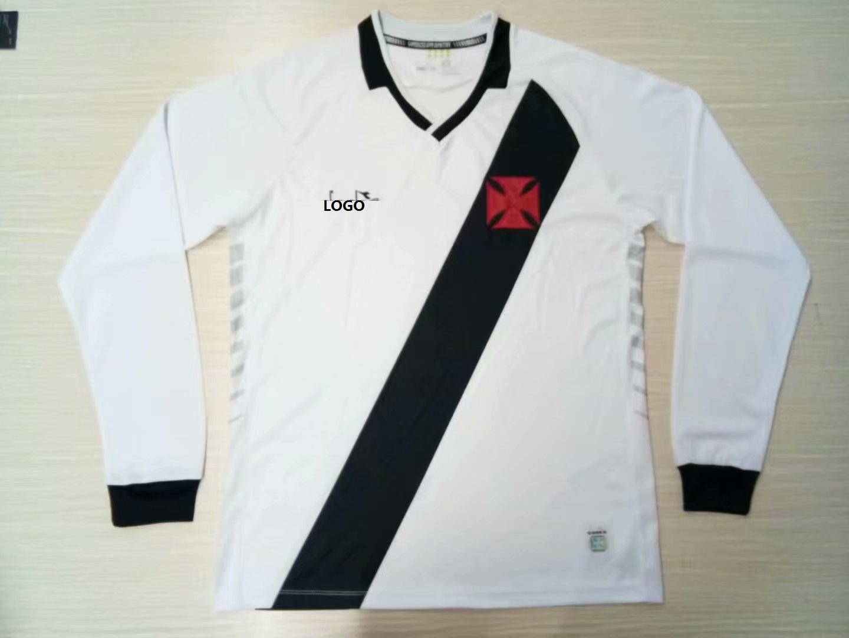 4fdc920b9 2019 20 Adult Vasco Da Gama White Long Sleeve Soccer Jersey