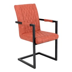 Metal Frame Leather Dining Chair Hanging Wicker Egg Nz Us 35 Wholesale New Design Armchair With Www Ynfurniture Com