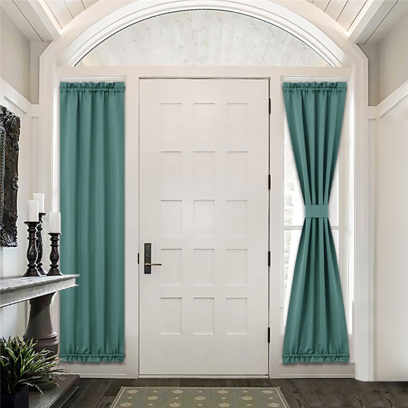 custom front door curtain blackout thermal insulated sidelight french door privacy panel for window living room sliding door by nicetown 1 panel