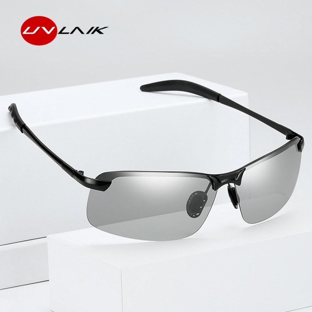 UVLAIK Classic Driving Photochromic Sunglasses Men ...
