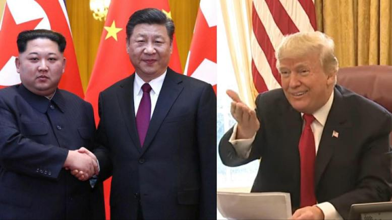 China meets NOKO. Feature photo credit to Reuters, White House Screen Grab by US4Trump.