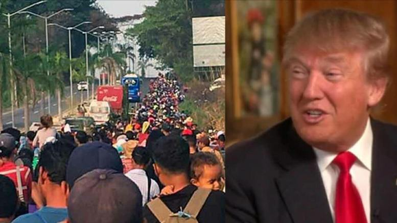 Mexico buckles to President Trump as he tweets about the caravans. Feature photo credit to Twitter/USA4Trump compilation.