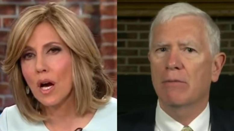 Alisyn Camerota and Mo Brooks square off on the definition of illegal immigration vs legal immigration. Photo credit to screen capture by US4Trump