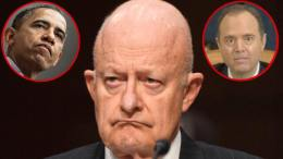 Clapper admits then denies spies. Image credit to US4Trump compilation.