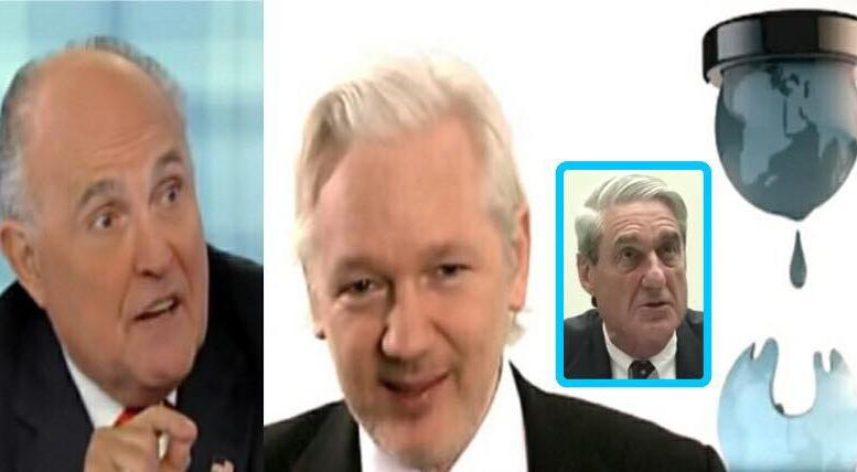 Assange invited to Congress. And Giuliani on Mueller Probe. Photo credit to US4Trump compilation with screen grabs.