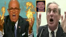 Giuliani talks about the Mueller probe. Photo credit to US4Trump with screen capture enhancement.