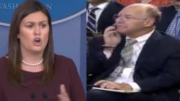 Sarah addresses reporter on Omorosa...AGAIN! Photo credit to US4Trump with screen grabs.