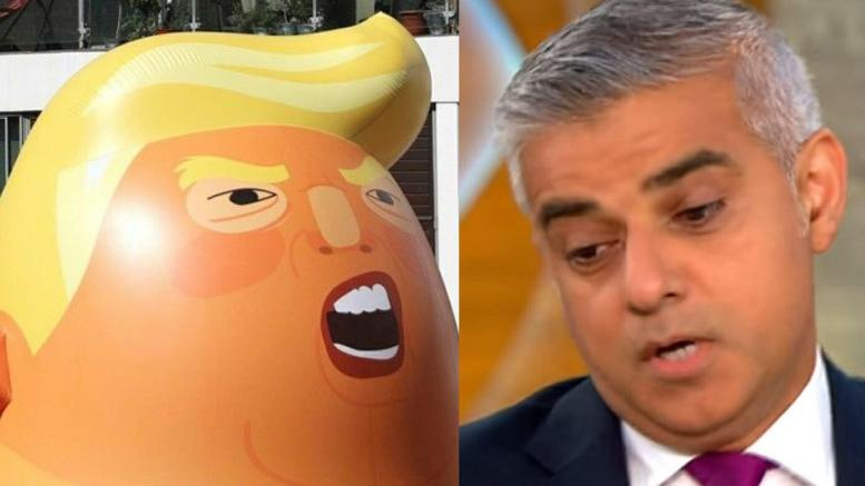 Kahn received a hilarious balloon of his own! Photo credit to US4Trump with Reuters, Screen Grab.