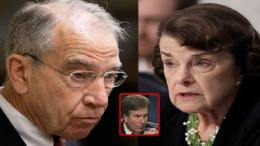 Grassley speaks out regarding Kavanaugh hearing. Image credit to US4Trump Compilation with NBC5, The Intercept & Video Screen Shot Enhancement.