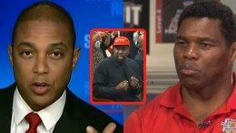 Herschel Walker calls for CNN's Don Lemon to be fired after racial slur on Kanye West. Photo credit to US4Trump compilation with screen captures.