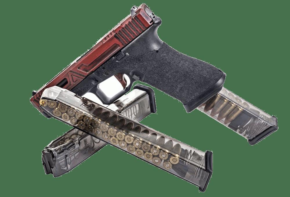 Glock 18 with 31-round magazine
