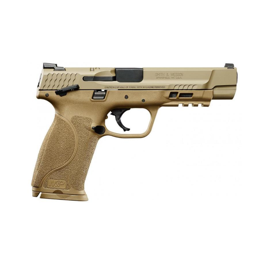 S&W M&P 2.0 Full Size for sale. This Flat Dark Earth polymer pistol is a legend for a reason. Buy your Smith and Wesson online now.