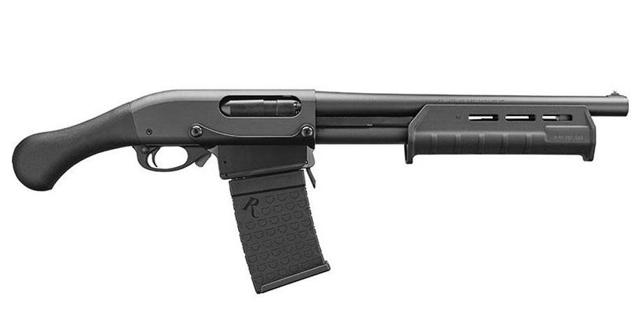 Remington 870 DM Tac-14 for sale. A short-barrel shotgun with a magazine that takes six rounds and swaps out in fractions of a second.